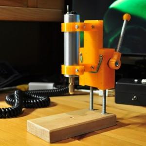 Сверлильный станок напечатаный на 3d принтере